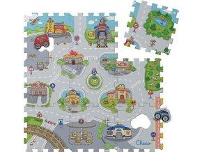 Puzzle pěnové Mesto 30x30 cm, 9 ks