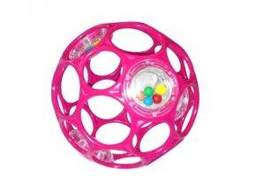 Hračka OBALL RATTLE 10 cm, 0m+ růžová