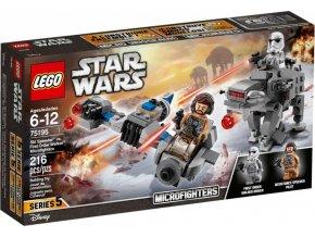 LEGO Star Wars TM 75195 Snežný spídr™ a kráčející kolos Prvního řádu™
