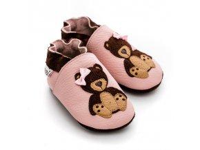 LLPT800 capacky liliputi teddygirl medvicek holcicka kozene capacky boty pro deti backurky