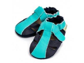 LLPT842 capacky liliputi sandalky liliputi ocean breeze kozene capacky boty pro deti backurky