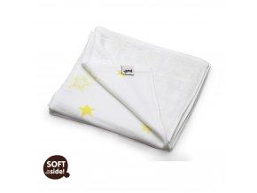 Bambusová deka XKKO BMB Lemon Stars 130x70cm