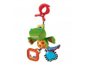 Playgro - Závěsný krokodýl s klipem