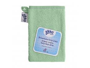 BIO bavlněná froté žínka XKKO Organic - Mint