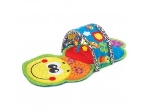 Playgro - Hrací deka s tunelem Barevná housenka