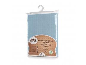 Bambusové prostěradlo s gumou XKKO BMB 120x60 - Baby Blue