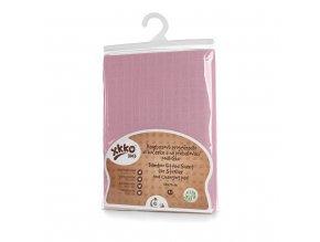 Bambusové prostěradlo s gumou XKKO BMB 50x70 - Baby Pink