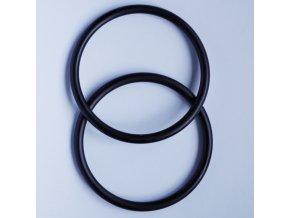 Ring Sling kroužky černé Velikost RS: L - pár