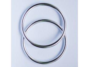 Ring Sling kroužky stříbrné lesk Velikost RS: L - pár