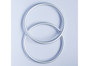 Ring Sling kroužky stříbrné mat Velikost RS: L - pár