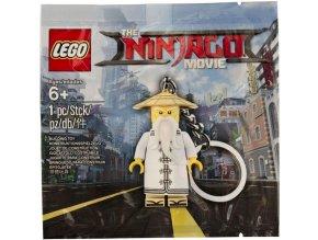LEGO 6195008 Klíčenka Ninjago Movie Mistr Sensei Wu