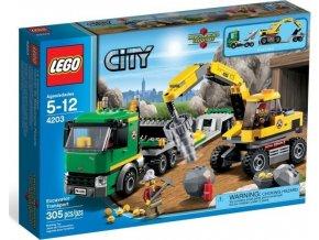 LEGO CITY 4203 Přeprava rypadla