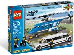 LEGO City 3222 Vrtulník a limuzína, Rarita!