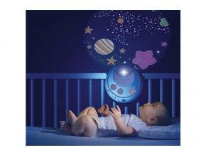Chicco kolotoč nad postýlku s projektorem hvězdiček - modrý