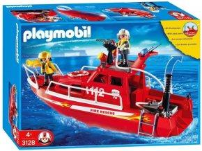PLAYMOBIL 3128 Hasičská loď s vodním dělem