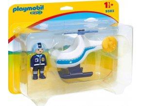 PLAYMOBIL® 9383 Policejní vrtulník s pilotem (1.2.3.)