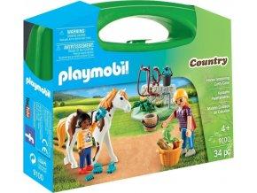 PLAYMOBIL® 9100 Přenosný kufřík Péče o koně