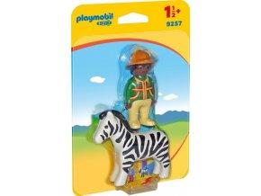 PLAYMOBIL® 9257 Ošetřovatel a zebra (1.2.3)