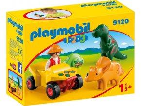 PLAYMOBIL® 9120 Lovec dinosaurusů na čtyřkolce (1.2.3)