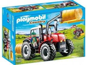 PLAYMOBIL® 6867 Velký traktor se sběračem balíků slámy