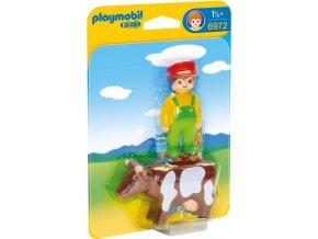 PLAYMOBIL® 6972 Farmář s krávou (1.2.3)