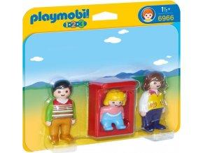 PLAYMOBIL® 6966 Rodiče s dítětem v kolébce (1.2.3)