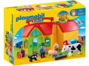 PLAYMOBIL® 6962 Přenosná farma (1.2.3)