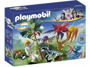 PLAYMOBIL® 6687 Ztracený ostrov s Alienem a Raptorem