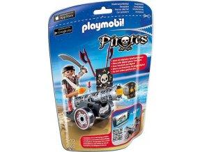 PLAYMOBIL® 6165 Pirát s interaktivním černým kanónem