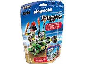 PLAYMOBIL® 6162 Kapitán pirátů s interaktivním zeleným kanónem