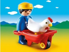 PLAYMOBIL® 6793 Farmář s trakařem (1.2.3)