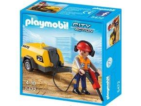 PLAYMOBIL® 5472 Dělník se sbíječkou