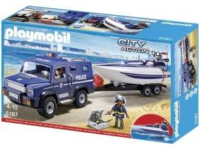 PLAYMOBIL® 5187 Policejní truck s motorovým člunem