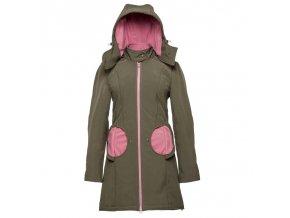 LLPT770 liliputi mama kabat tehotensky nosici kabat nosici bunda olive pink