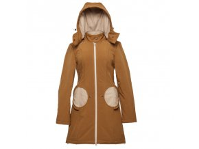 LLPT771 liliputi mama kabat tehotensky nosici kabat nosici bunda saffron beige