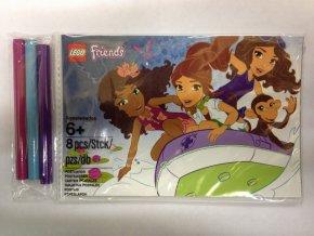 lego friends 5002131 5ks pohlednic omalovanek s 3 pastelkami