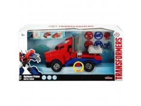 dickie transformers auto s premenou robot optimus prime battle truck svetlo zvuk