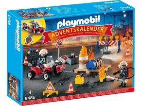 PLAYMOBIL 9486 Adventní kalendář Zásah hasičů