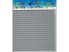 Podložka pro stavebnice kompatibilní šedá 16 x 16 cm