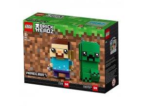 lego 41612 brickheadz brick headz steve and creeper