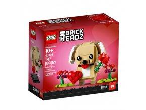 lego 40349 brickheadz valentines puppy