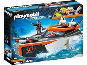 PLAYMOBIL® 70002 Spy Team Turbo loď