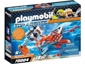 PLAYMOBIL® 70004 Spy Team Podvodní křídlo s motorem