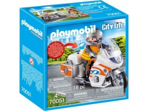 PLAYMOBIL® 70051 Rychlá lékařská pomoc na motorce