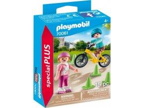 PLAYMOBIL® 70061 Děti s bruslemi a BMX