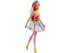 Barbie VÍLA Dreamtopia s růžovými vlasy