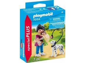 PLAYMOBIL® 70154 Maminka s miminkem a pejskem