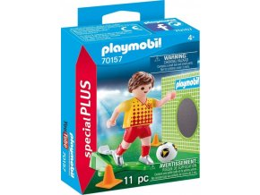 PLAYMOBIL® 70157 Fotbalista s brankou