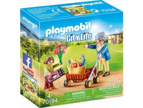 PLAYMOBIL 70194 babicka s choditkem
