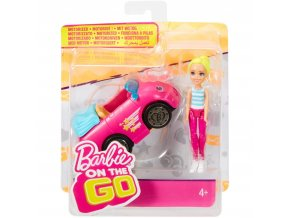 barbie on the go ruzovy kabriolet